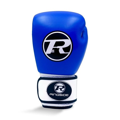 Ringside Boxing Leather Club Gloves Blue - 12oz