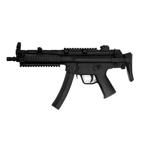 """Realistic TP Rubber Sub Machine Training Gun : Black ( E432) 27"""""""