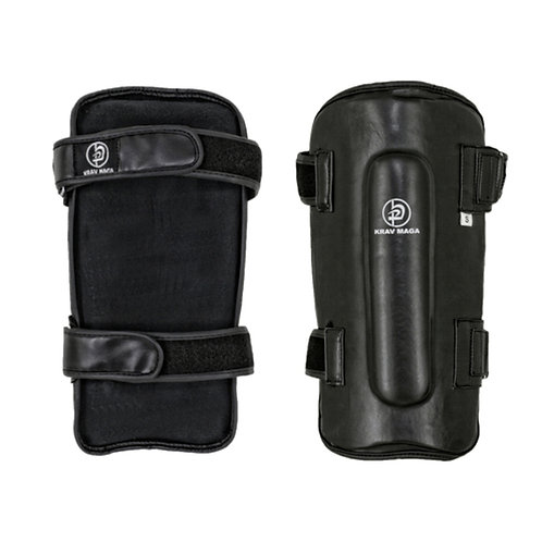 Krav Maga Deluxe Black Leather Shin Guards