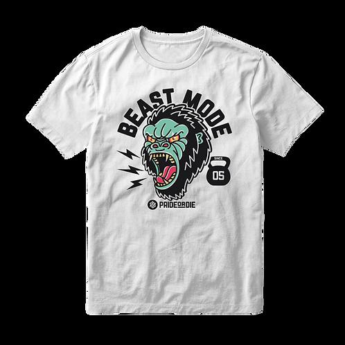 Pride or Die Beast Mode T Shirt - White