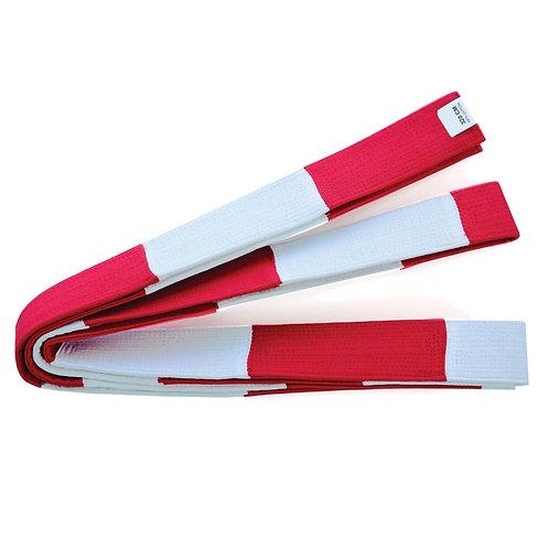 Masters Deluxe  Instructor Dan Block Belt - Red/White
