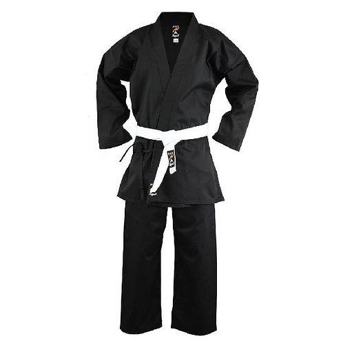 Adults Karate Medium Weight Polycotton Suit - Black