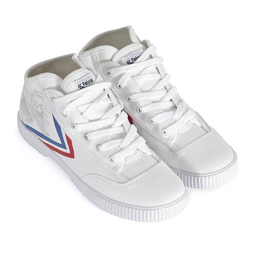 High Top Feiyue Vintage Wushu Training Shoes : White