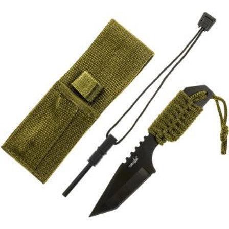 Survivor Paracord Wrapped Survival Knife Tanto Point