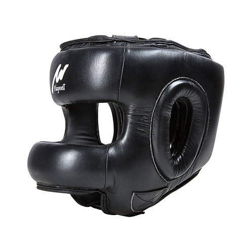 Boxing Ultimate Leather Full Face Head Guard With Bar