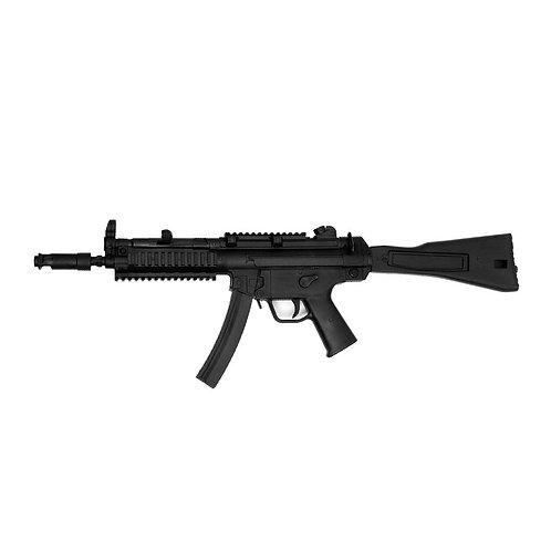 """Realistic TP Rubber Sub Machine Training Gun : Black ( E433) 33"""""""