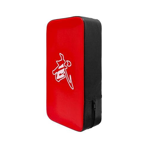 Muay Thai Beginners Kick Pad Black/Red  - Single
