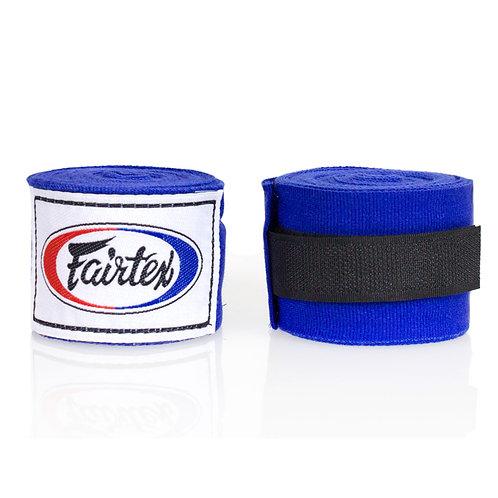 Fairtex Blue Traditional Elastic Stretch Hand Wraps  - 4.5M