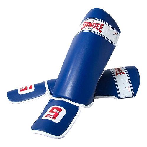 Sandee Sport Muay Thai Shin Guards - Blue