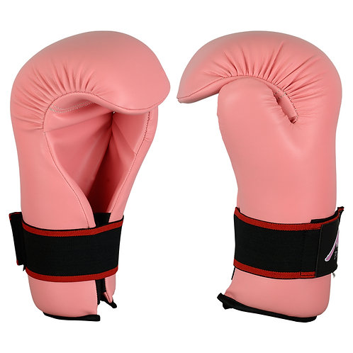 Semi Contact Point Sparring Gloves: Pink