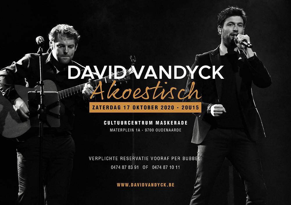 NIEUW: David Vandyck Akoestisch - C.C. Maskerade - Oudenaarde