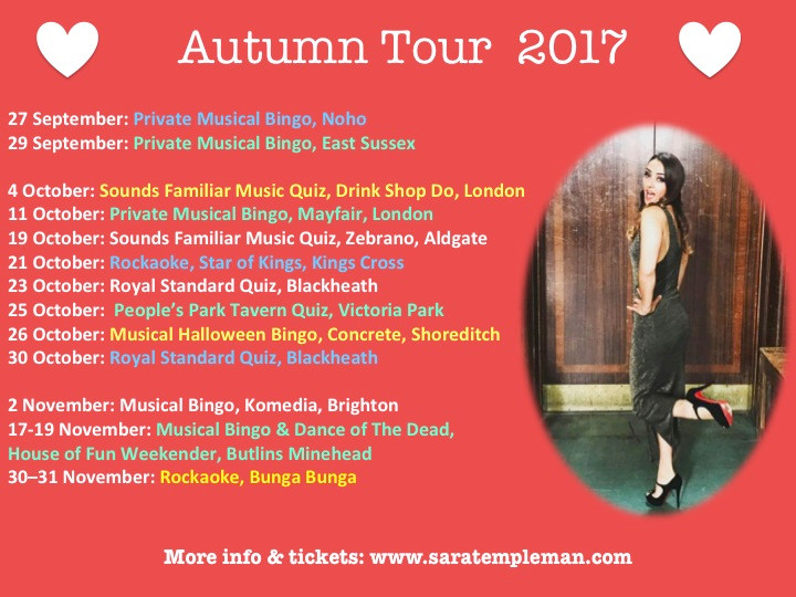 NEW DATES ADDED TO AUTUMN 2017 TOUR