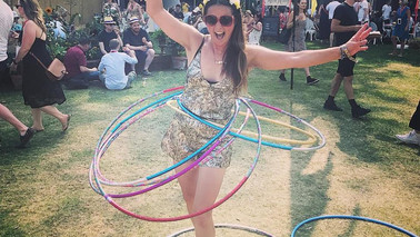 Mass Hula Hooping at House Festival 2017