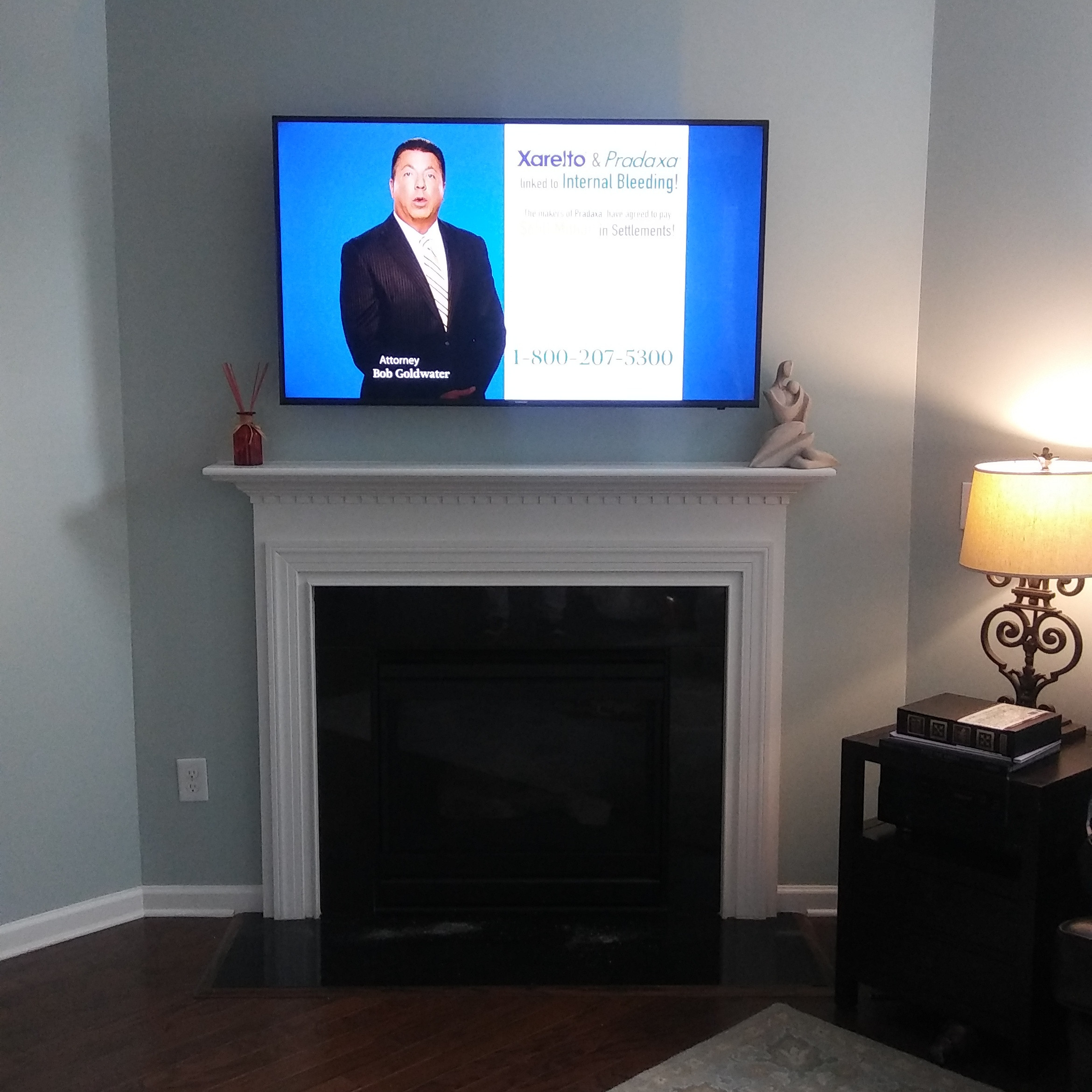 """TV Installation Fireplace Drywall 41-59"""""""