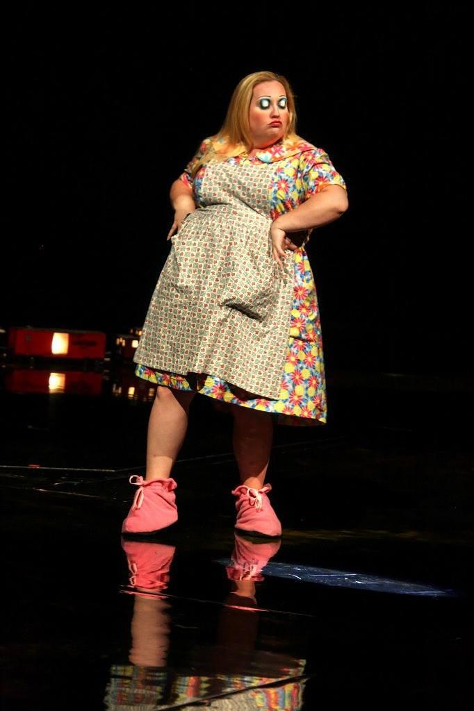 Cheryl Ann as Virginia The Cleaning Lady in La Nouba