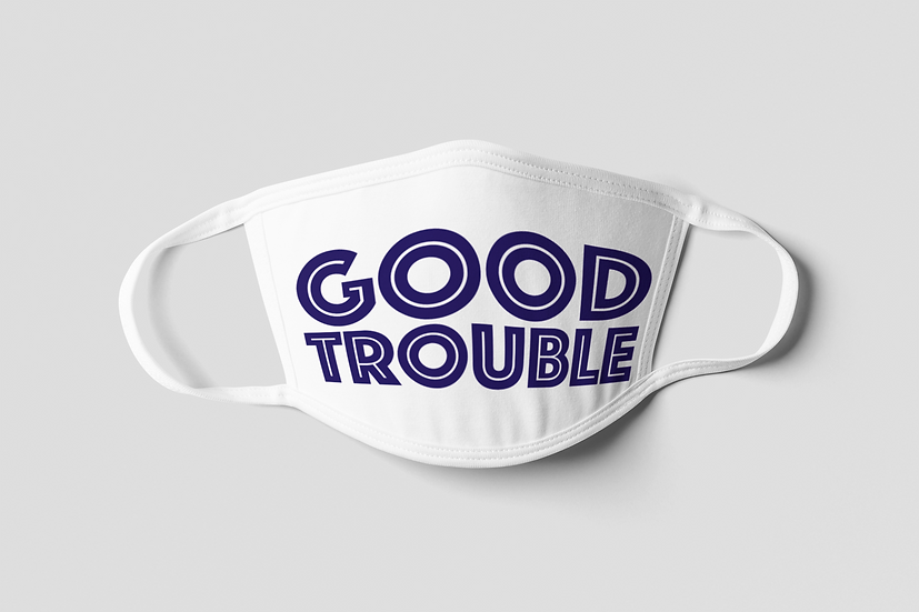 Good Trouble Face Mask - Blue