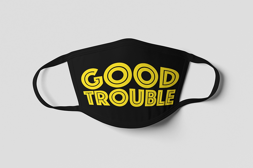 Good Trouble Face Mask - Yellow
