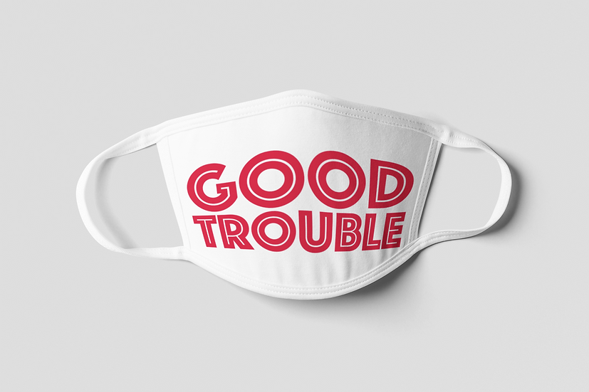 Good Trouble Face Mask - Red