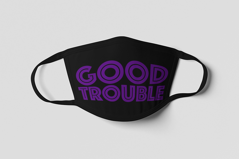 Good Trouble Face Mask - Purple