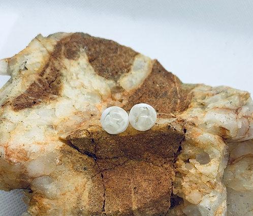 Rose Quartz Resin Earrings
