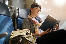 Woman reading on train.jpg