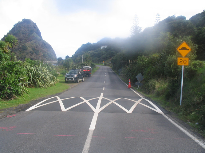 Auckland Council Speed Control Bumps - Piha