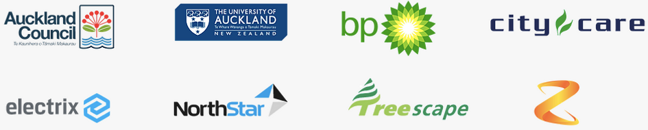 Siteworks Client list: Auckland Council, The Univeristy of Auckland, BP, City Care, Electrix, NorthStar, Treescape and Z