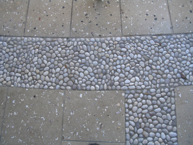 Paving and Pebble Inlay