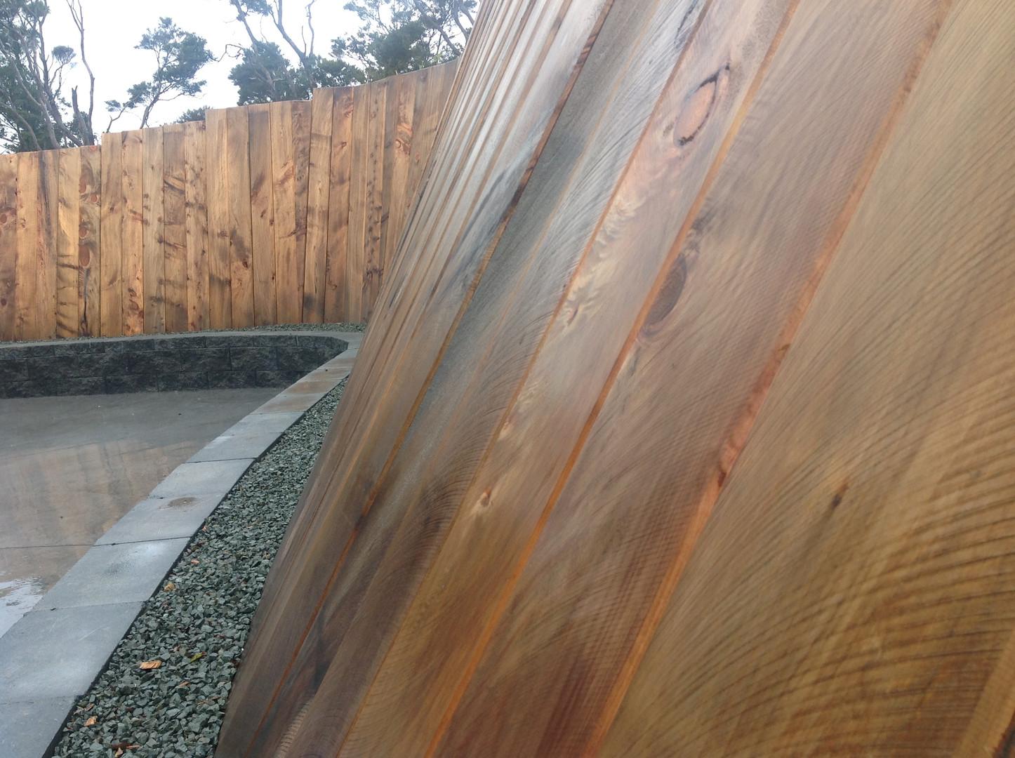 Sleeper Retaining Wall - Waipu