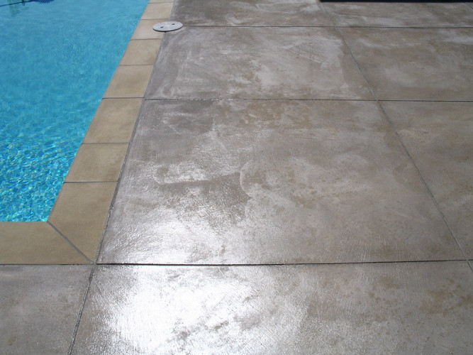 Concrete Tiles in Pool Area