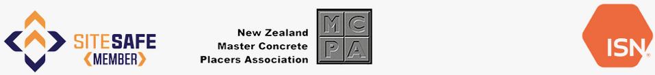 Site safe member, new zealand master concrete placers association member, and ISN
