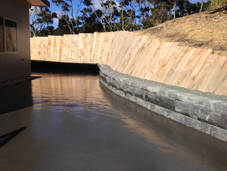 Keystone and Timber Retaining Walls - Wa
