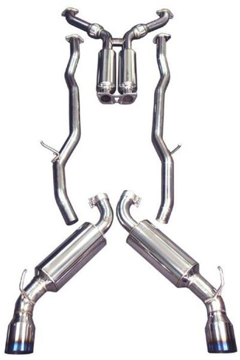 INJEN DUAL 60MM SS CAT-BACK EXHAUST W/BUILT IN RESONATED X-PIPE | 09+ 370Z