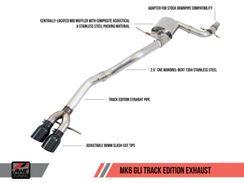 AWE TUNING TRACK EDITION EXHAUST | 2012-2017 VW JETTA