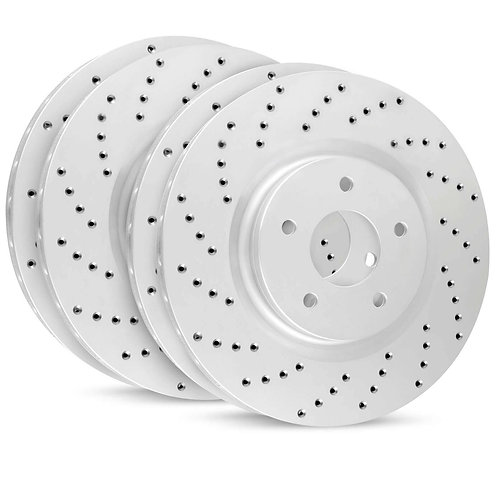 R1 CONCEPTS GEOMET SERIES BRAKE ROTORS | DRILLED | 718 CAYMAN/BOXTER | 2017-2019