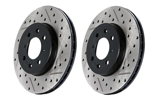 STOPTECH DRILLED/SLOTTED ROTORS (4 LUG) | 89-98 240SX