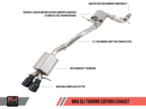 AWE TUNING TOURING EDITION EXHAUST | 2012-2017 VW JETTA