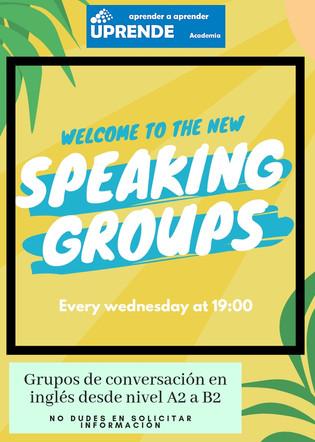 Nuevos grupos de conversación en inglés para aquellos que quieran mejorar su speaking.   No dudes en solicitar información e informarte de nuestras ofertas.