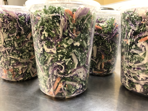 Tangy Kale Slaw- Serves 4 people