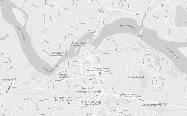 Bolos Brunswick Maine Map