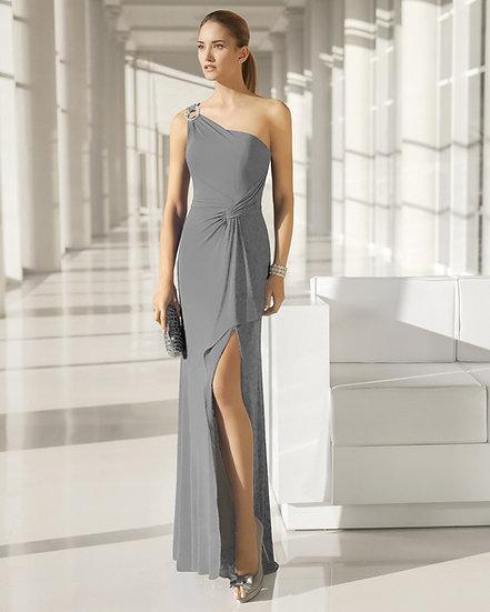 Robe de cocktail longue - 8J255 Couleur Gris perle