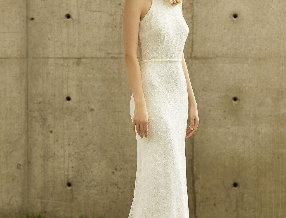 Robe de Mariée trapèze en dentelle - Bride Now BN001