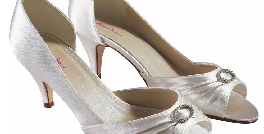 Chaussures Mariée Satin RAINBOW Club - AMELIE