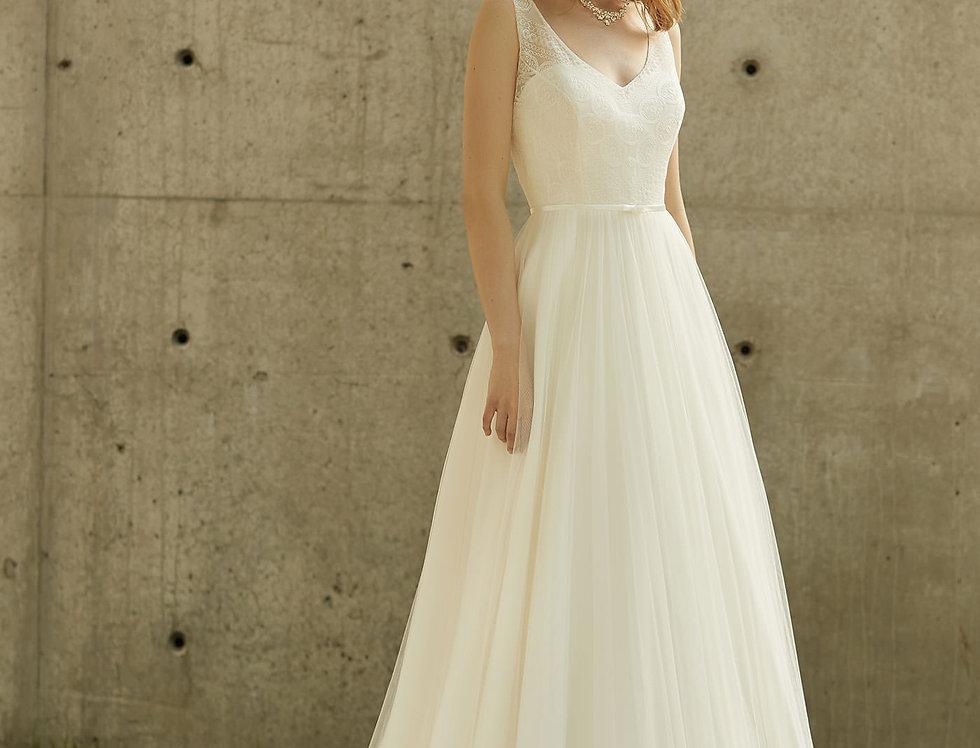 Robe de Mariée trapèze en dentelle et tulle - Bride Now BN018
