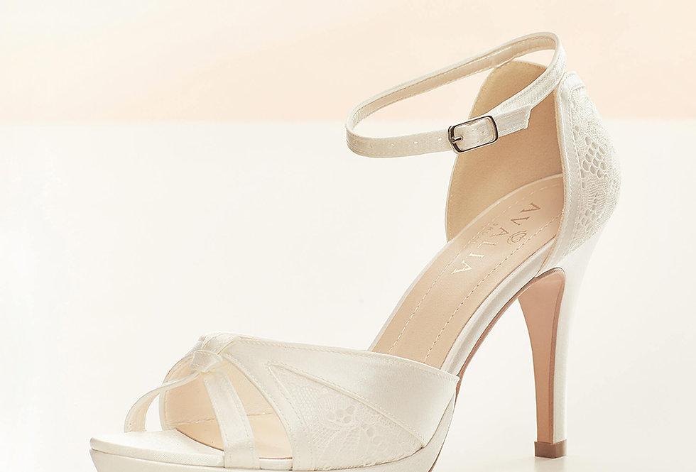 Chaussures Mariée Dentelle et Satin AVALIA - ALBA