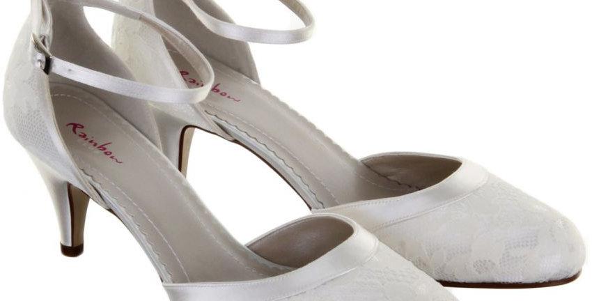 Chaussures Mariée Dentelle et Satin RAINBOW Club - PENNY