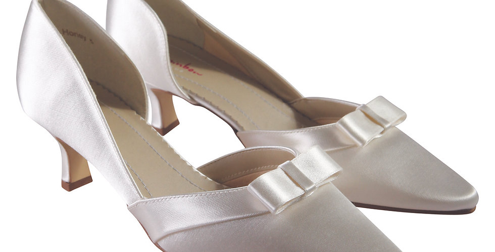 Chaussures Mariée Satin RAINBOW Club - HONEY