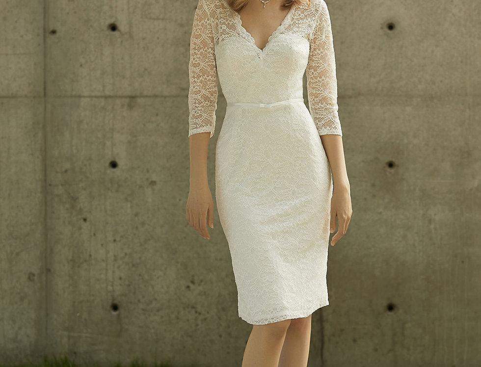 Robe de Mariée courte en dentelle - Bride Now BN017