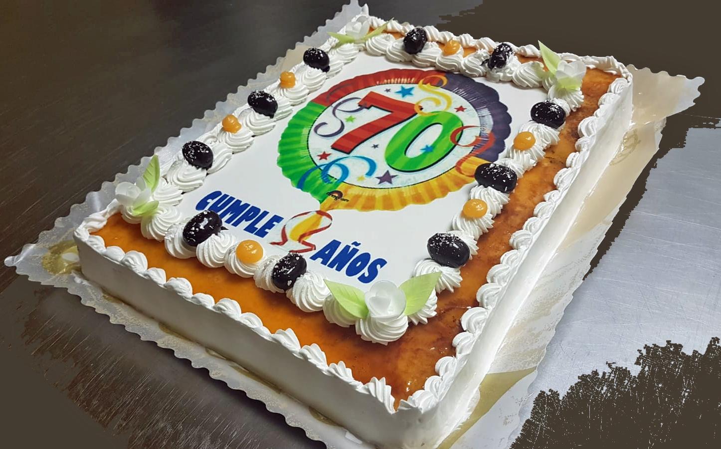 Tarta 70 cumpleaños