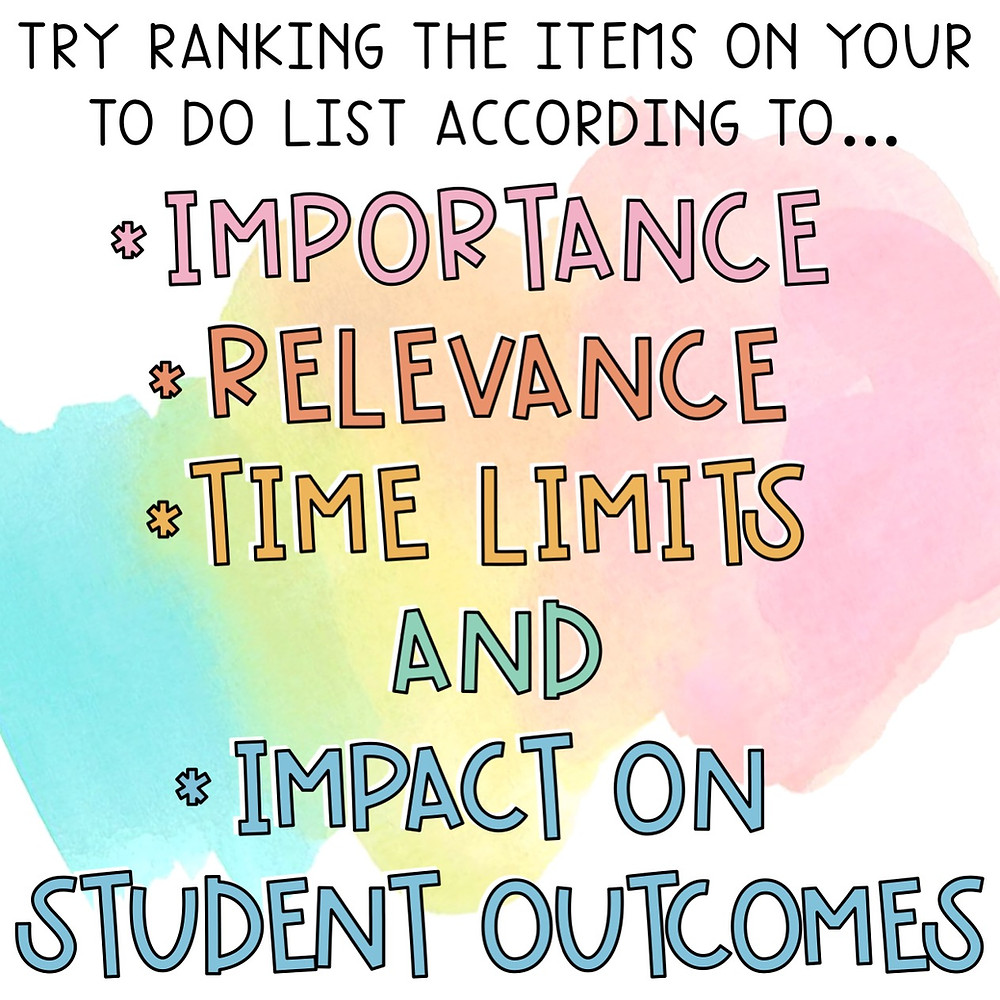 Our way to rank to-do tasks as teachers